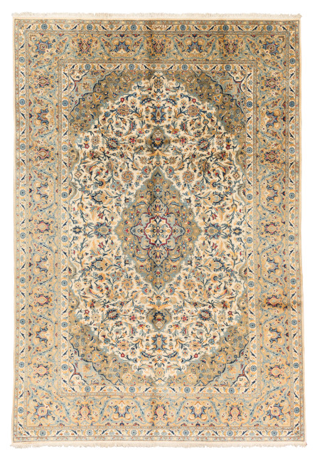 Keshan Teppich aus Raufaser